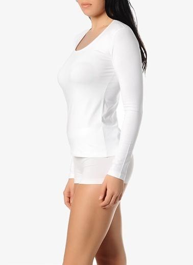 Dagi Havuz Yaka T-Shirt Beyaz